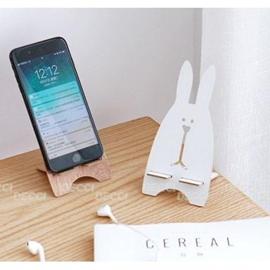 Подставка для телефона\планшета, зайчик, белый