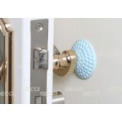 Валик дверной, антиударный, голубой