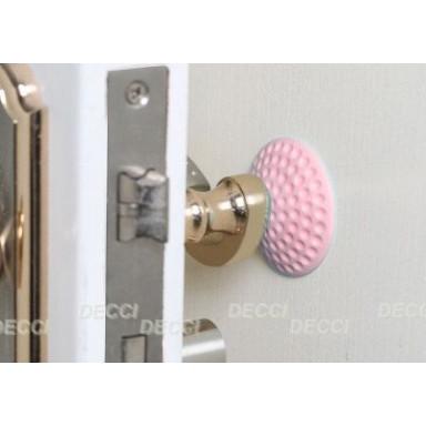 Валик дверной, антиударный, розовый