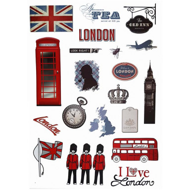 Наклейка на стену Лондон символы