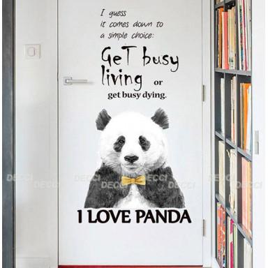 Наклейка на стену Любимчик Панда