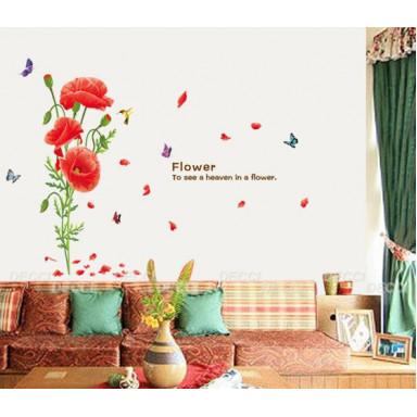 Наклейка на стену Маков цвет