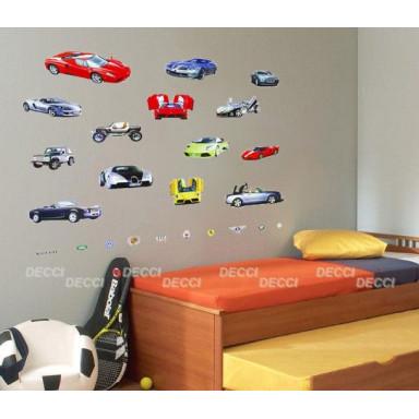 Наклейка на стену Машины
