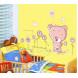 Наклейка на стену Мишка-ромашка