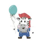 Малышка-зебра