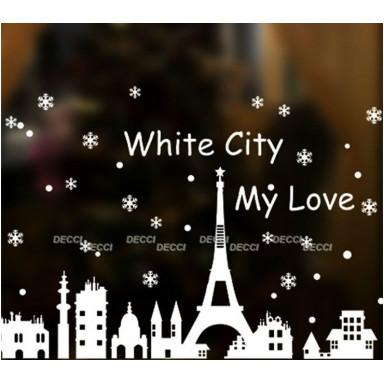 Наклейка на стену, Белый город