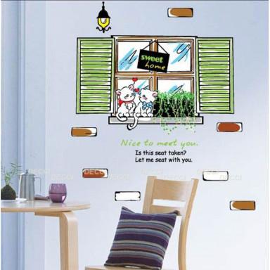 Наклейка на стену Окошко
