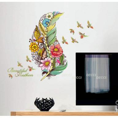 Наклейка на стену Нарисованное перо