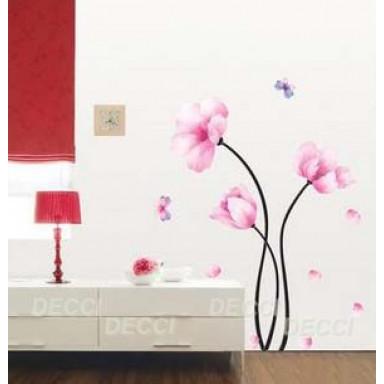 Наклейка на стену Нежно-розовый цветок