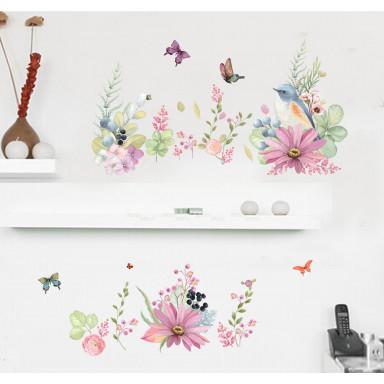 Наклейка на стену Нежные цветы