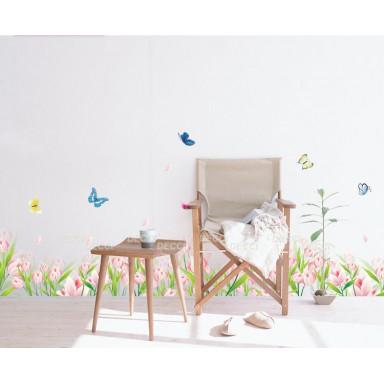 Наклейка на стену Нежные тюльпаны