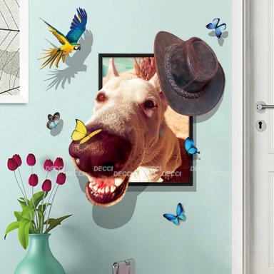 Наклейка на стену Нос 3D эффект