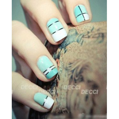 Лента для ногтей серебристый