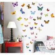 Пестрые бабочки лист 30х45см
