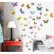 Наклейка на стену Пестрые бабочки