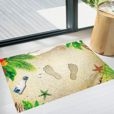 Наклейка на стену Пляж 3d эффект