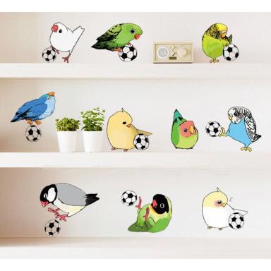 Наклейка на стену Попугайчики