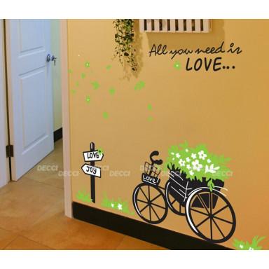 Наклейка на стену Путь любви