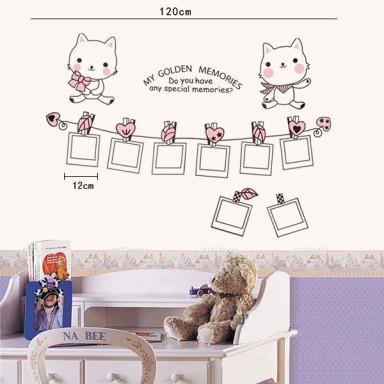 Наклейка на стену Рамочки-котята