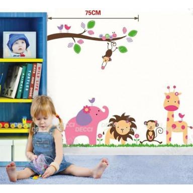 Наклейка на стену Розовые мультяшки
