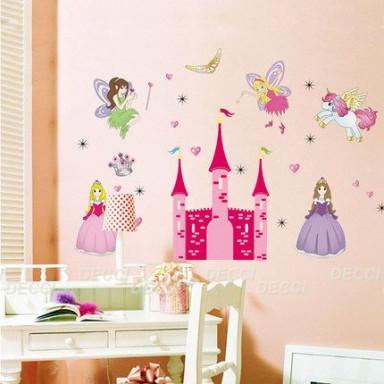 Наклейка на стену Розовый замок