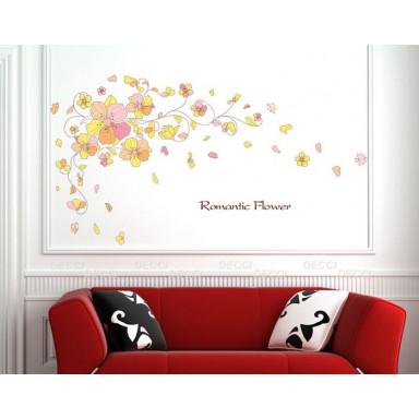 Наклейка на стену Романтические цветы