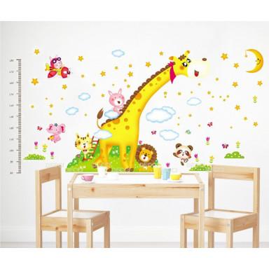 Наклейка на стену Ростомер Жираф в облаках