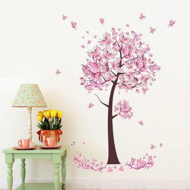 Наклейка на стену Розовые бабочки