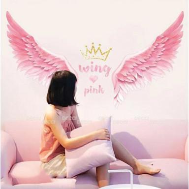 Наклейка на стену Розовые крылья