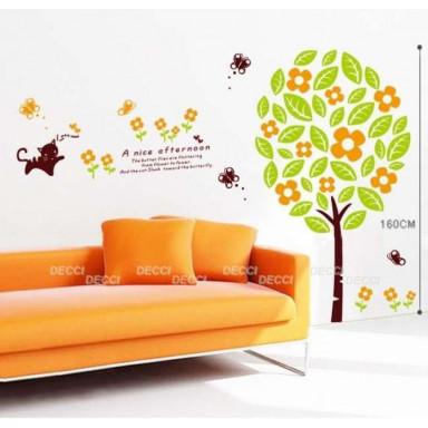 Наклейка на стену Солнечное деревце