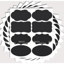 Стикеры для баночек, разные формы