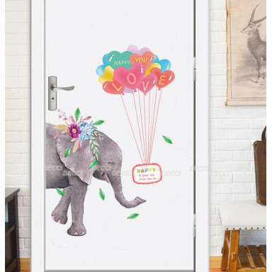 Наклейка на стену С любовью, Слон