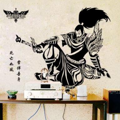 Наклейка на стену зеркальная Самурай