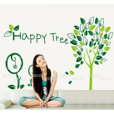 Наклейка на стену Счастливое дерево