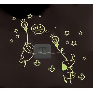 Наклейка на стену Шарики-лампочки