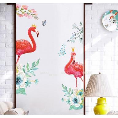 Наклейка на стену Шикарные фламинго