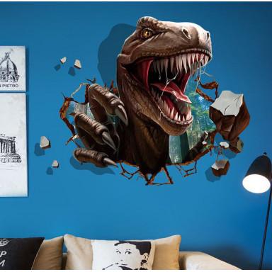 Наклейка на стену Тиранозавр, 3d эффект