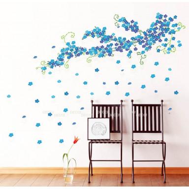 Наклейка на стену Цвет незабудок