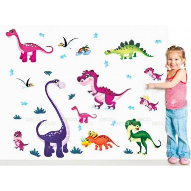 Цветные динозаврики