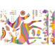 Наклейка на стену Цветные олени