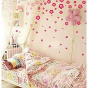 Цветочная россыпь, ярко-розовый