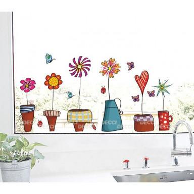 Наклейка на стену Цветы-стиляжки