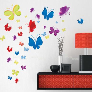 Наклейка на стену Веселые бабочки