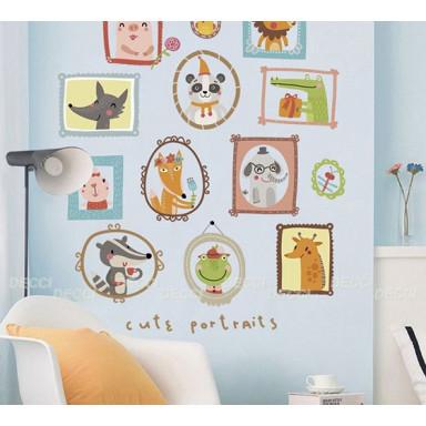 Наклейка на стену Веселые портреты
