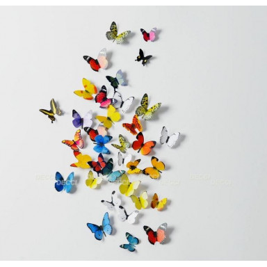 Наклейки на стену Волшебные бабочки 3D