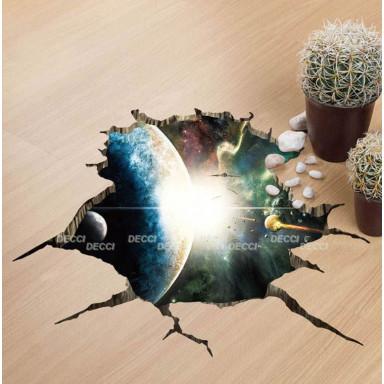 наклейка на стену Вспышка,  3d эффект