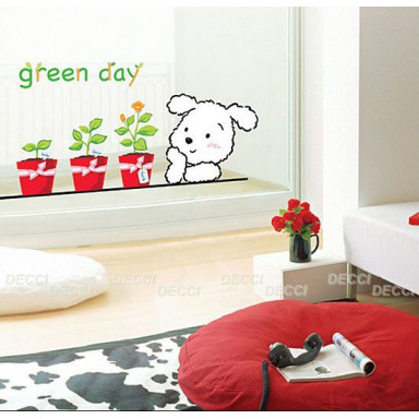Наклейка на стену Зеленый день