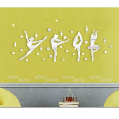 Наклейка на стену зеркальная Балерины