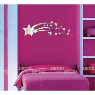 Наклейка на стену зеркальная Комета