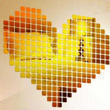 Зеркальная мозаика золото, 100 шт